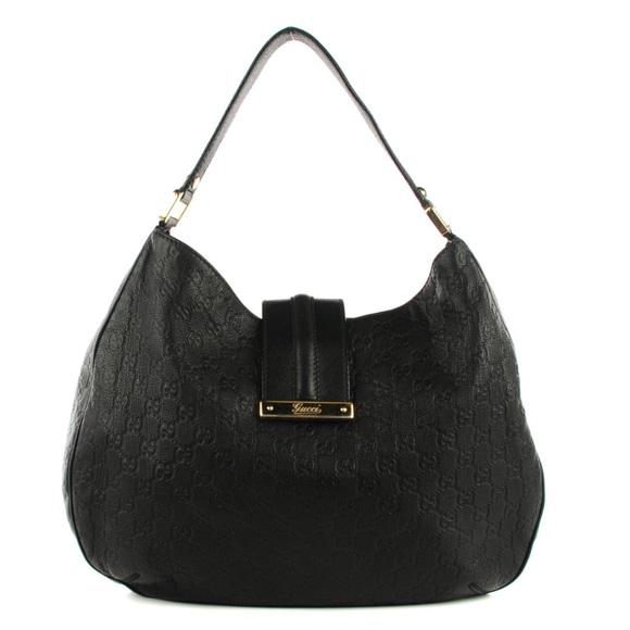 6fbccbf79cc2 Gucci Handbags - GUCCI Guccissima Large New Ladies Web Hobo Black